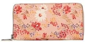 MANGO Floral saffiano-effect wallet