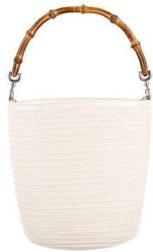 Gucci Vintage Patent Bamboo Bucket Bag - WHITE - STYLE