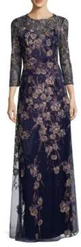 David Meister Floral Gown