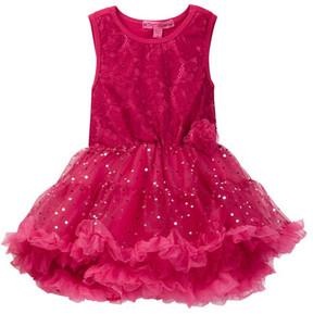 Betsey Johnson Lace & Sequin Disco Dot Tulle Dress (Little Girls)