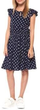 Dex Girl's Dotted Flutter Dress