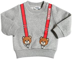 Moschino Suspenders Printed Cotton Sweatshirt