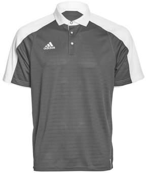 adidas Men's Modern Varsity Short Sleeve Polo (X-Large, Onix/White)