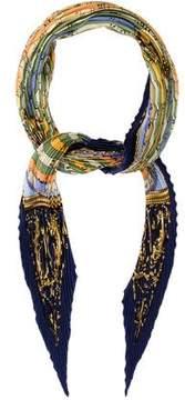 Hermes Astrologie Silk Plisse Scarf