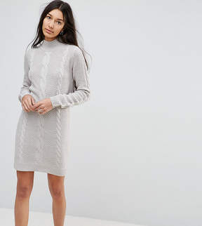 Brave Soul Tall Cable Knit Sweater Dress