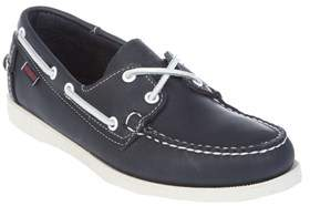 Sebago Men's White/blue Leather Loafers.