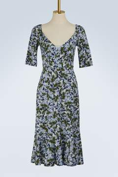 Erdem Glennys long sleeves printed dress
