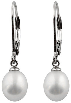 Bella Pearl Cultured Pearl & Sterling Silver Lever-Back Earrings