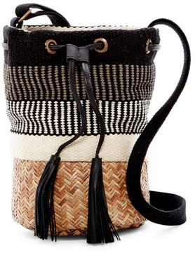 Lucky Brand Rica Woven Bucket Bag