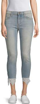 Driftwood Women's Jackie Lace-Trimmed Cropped Jeans