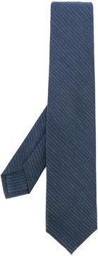 Barba diagonal pinstripes tie