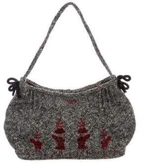 Anya Hindmarch Tweed Handle Bag