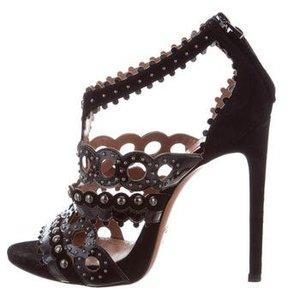 Alaia Studded Laser Cut Sandals