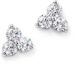 Bloomingdale's Diamond Three Stone Stud Earrings in 14K White Gold, .60 ct. t.w. - 100% Exclusive