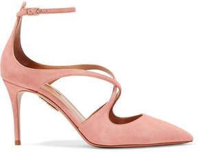 Aquazzura Viviana Suede Pumps - Baby pink
