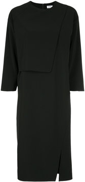 EN ROUTE drape front shift dress