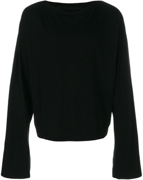 Julius cropped split sweatshirt