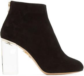 Charlotte Olympia Black Suede Alba Boots