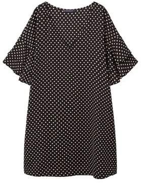 Violeta BY MANGO Polka-dot ruffled dress