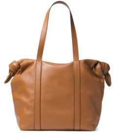 Michael Kors Knot Leather Zip Tote - ACORN - STYLE