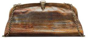 Patricia Nash Metallic Snake Collection Ardales Clutch