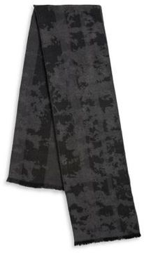 Black & Brown Black Brown Camouflage Striped Scarf