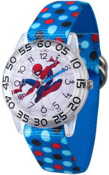 Marvel Spiderman Boys Blue Strap Watch-Wma000183