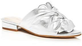 Kenneth Cole Violet Metallic Knot Slide Sandals