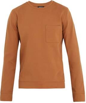 A.P.C. Crew-neck cotton-jersey sweatshirt