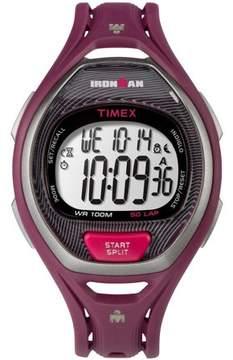Timex Unisex Ironman Sleek 50 Full-Size Magenta/Black Watch, Resin Strap