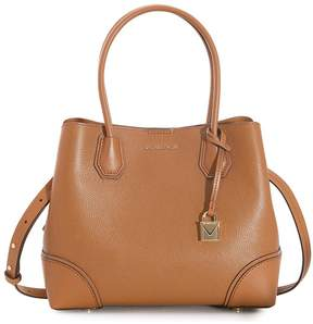 Michael Kors Mercer Medium Leather Satchel - Acorn