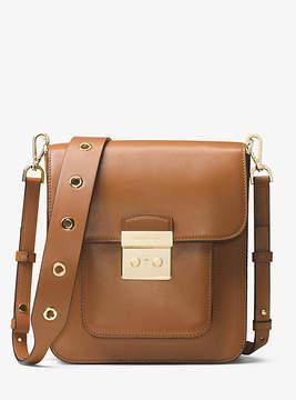 Michael Kors Sloan Editor Leather Messenger - BROWN - STYLE