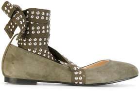 Anna Baiguera Flex studded strap ballerina shoes