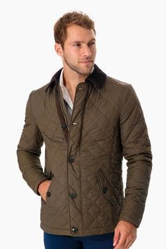 Barbour Olive Fortnum Quilted Jacket