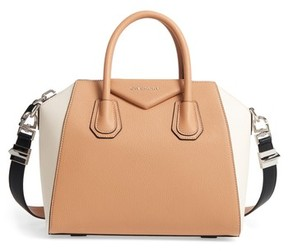 Givenchy Small Antigona Bicolor Sugar Leather Satchel - Beige