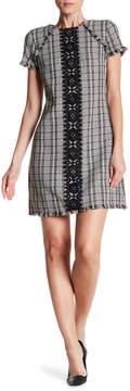 Eliza J Lace Trim Tweed Dress