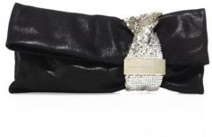 Jimmy Choo Chandra Shimmer Suede Clutch