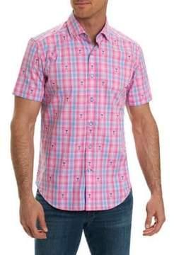 Robert Graham Tartan Print Short-Sleeve Shirt