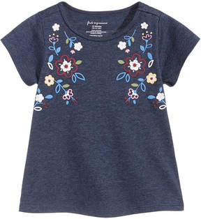 First Impressions Floral-Print Cotton T-Shirt, Baby Girls (0-24 months), Created for Macy's