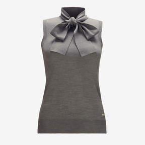 Bally Bow Detailed Sleeveless Sweater
