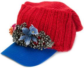 DSQUARED2 crystal-embellished baseball cap