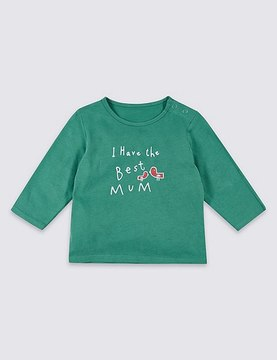 Marks and Spencer Best Mum Pure Cotton Printed Top