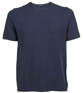 Zanone Men's 811976z0380z0178 Blue Cotton T-shirt.