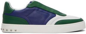 Valentino Tricolor Garavani Lace Crew Sneakers