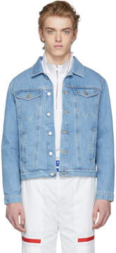 Misbhv Blue Denim Dystom Jacket