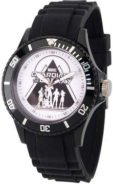 Marvel Guardian Of The Galaxy Mens Black Strap Watch-Wma000113