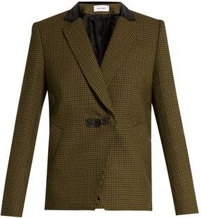 Courreges Hound's-tooth notch-lapel wool jacket