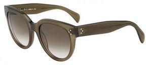 Asstd National Brand CŽline Sunglasses - 41755/S / Frame: Military Green Lens: Brown Gray Gradient