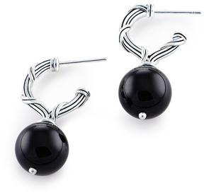 Peter Thomas Roth Bead Silver Onyx Drop Earrings