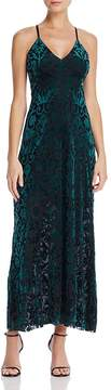 Aqua Strappy Velvet Burnout Maxi Dress - 100% Exclusive